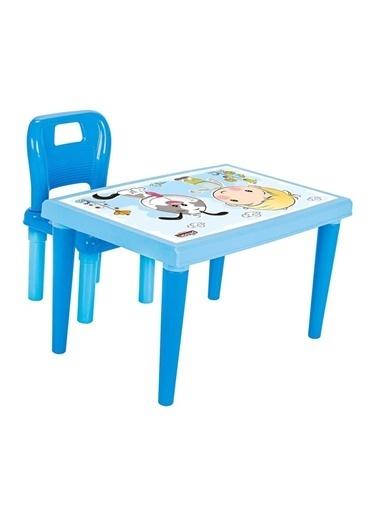Pilsan Pilsan Modern Çalışma Masası ve Sandalye Seti Mavi 03-561P Renkli